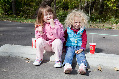 Chicken nuggets and Hi-C are yummy, especially on a brisk fall afternoon.