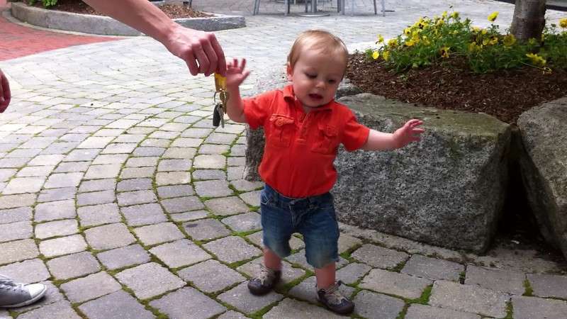 Luca took his first unassisted walking steps this weekend. Go Luca!