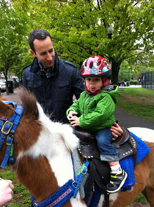 Free pony rides at Little League Opening Day.
