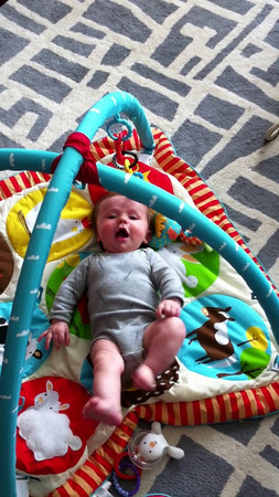 Luca finds his voice.  His favorite thing to do now is scream at the top of his lungs.