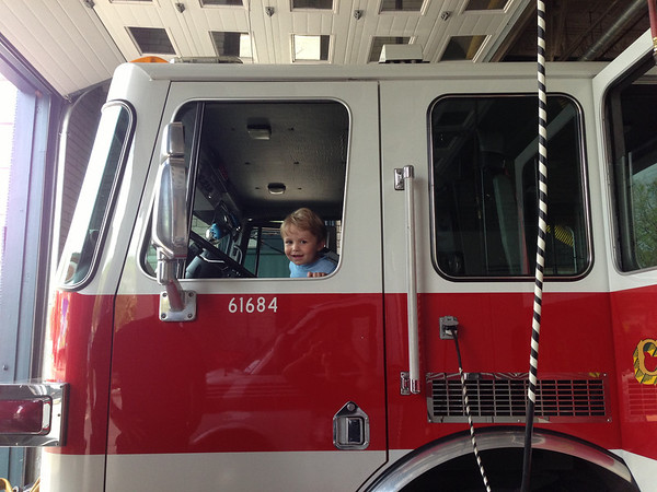 visiting the local fire station