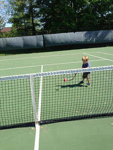 tennis star in the making