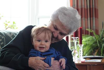 Luca meets great grandma Barb