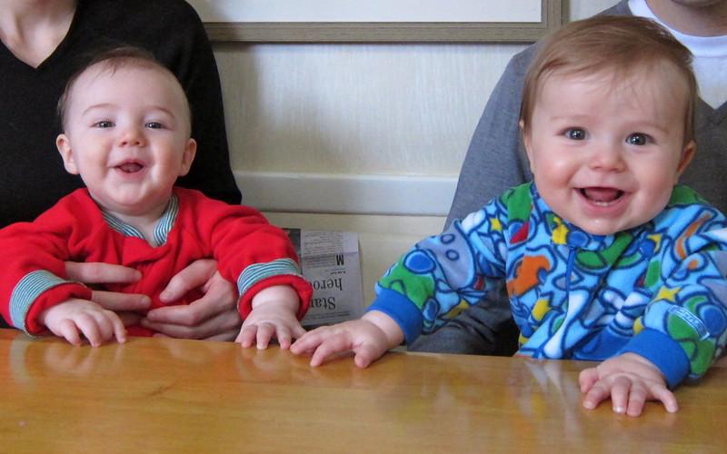Luca and cousin Cedar....best buds.