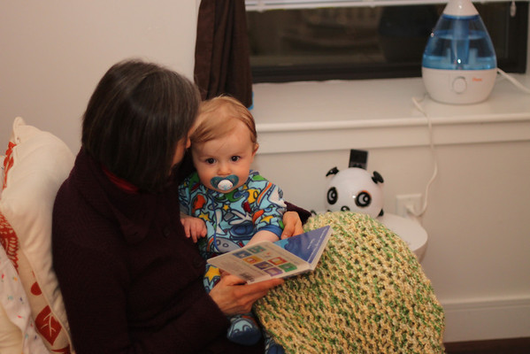 reading with nana before bed