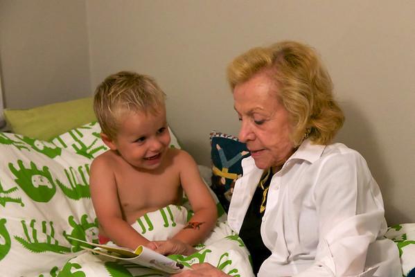 Gigi reading a bedtime story.