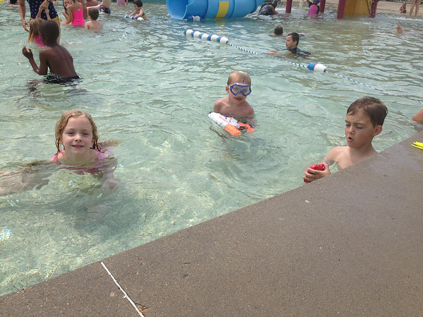 cousins at the pool