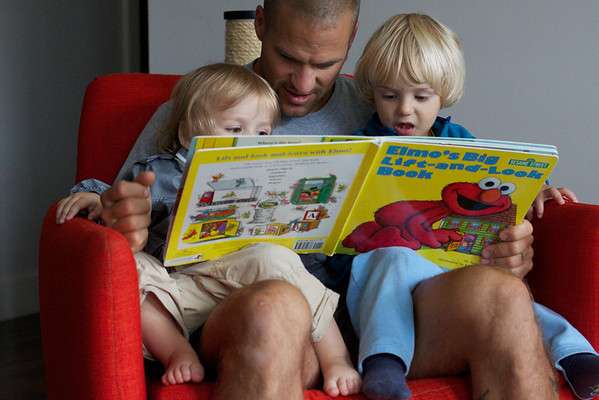 Uncle Craig reading stories.