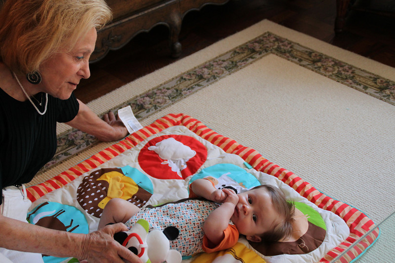 Luca playing with Great-Grandma (Gigi) Helene