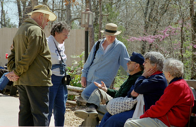 Floyd, Lela and Rita Mayberry meet JB and Pat Cantrel at Silver Dollar City Worldfest, April 2003.