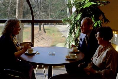 Barbara Best, Floyd and Lela at Rita's graduation; Culinary Insitute of America, Hyde Park, NY - c.1987