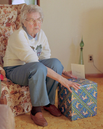 Veda Cantrel, Christmas at her house in Mountain View, Missouri. 1993