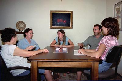 Lela, Rita, Cecilia, Randy, and Ginny at Lela and Floyd's, Aug. 2004