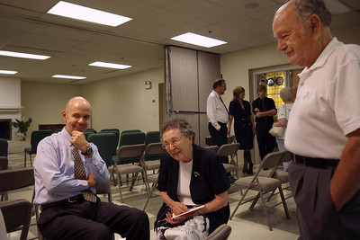 Charles Cantrell, Lela Mayberry, JB Cantrell. Floyd Mayberry memorial, Second Baptist Church, Springfield, MO. 6/17/10