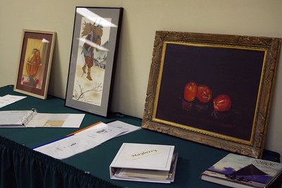 Floyds paintings. Floyd Mayberry memorial, Second Baptist Church, Springfield, MO. 6/17/10