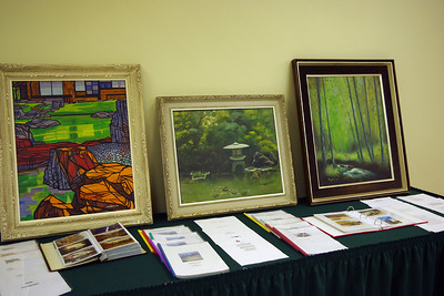 Floyd's paintings and poetry; Floyd Mayberry memorial at Second Baptist Church, Springfield, MO. 6/17/10
