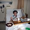 Lieske in the hospital after she fell again.