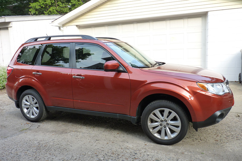 Jeane gets a new car in 2011!  A lovely Subaru Forester that'll carry our camping gear.