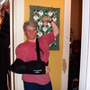Jeane has just gotten home from rotator cuff surgery, and still has a huge bandage on her shoulder that makes her look a bit like Charles Atlas.  5/7/2003