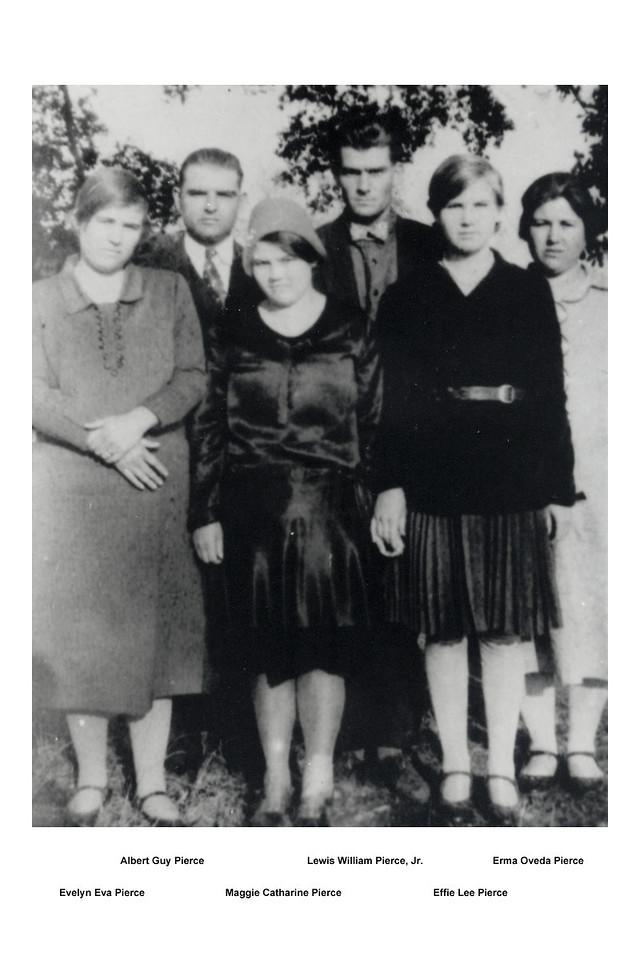 Children of Lewis William and Georgianne Collins Pierce