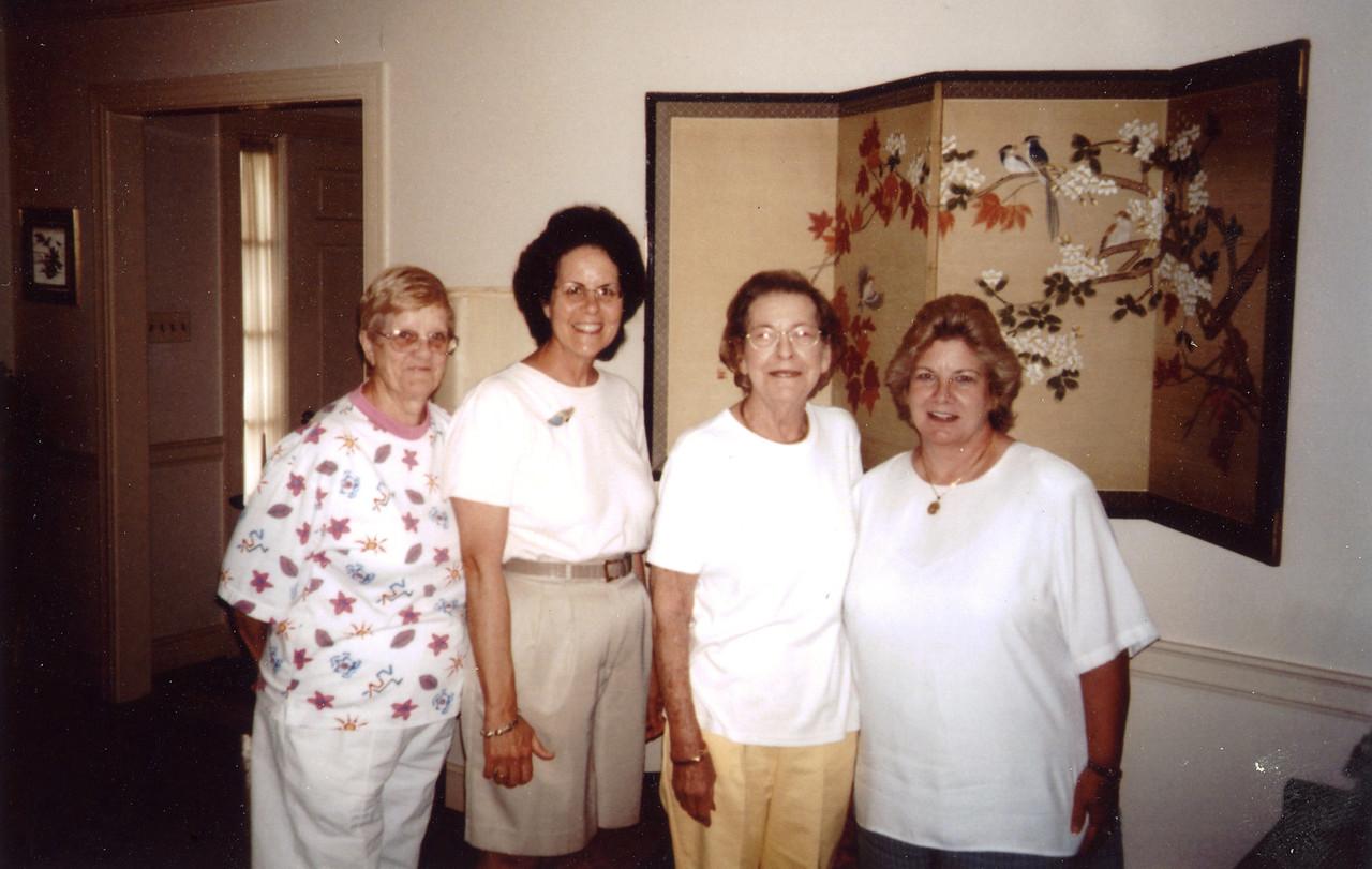 Madeline Pierce Turnage, Ann Pierce Thompson, Margaret Strange Jordan, Becky Strange Lewis