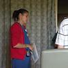 The doctor checks on Katie's progress.