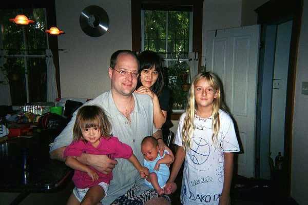 Tina, Pops, Rumi, JJ and Dakota, Atlanta house, Aug. 99