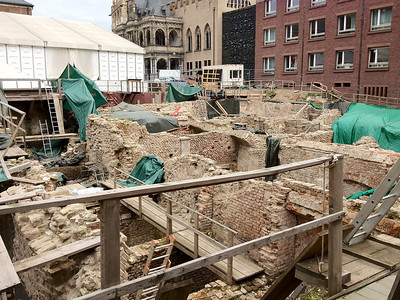 Archeological dig of the jewish quarter in Cologne