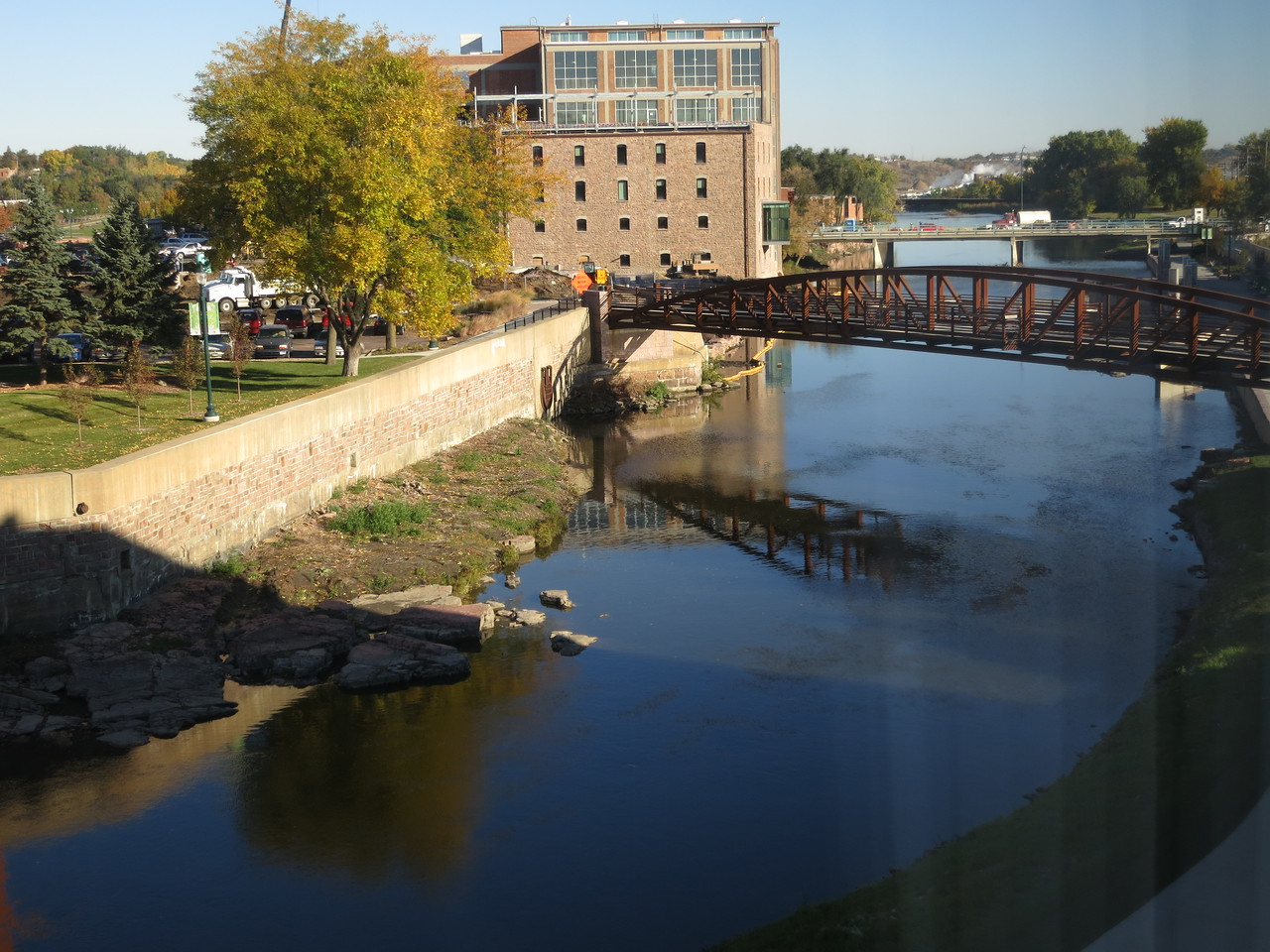 The view of the Big Sioux River from our County Inn hotel.<br /> October 18, 2013