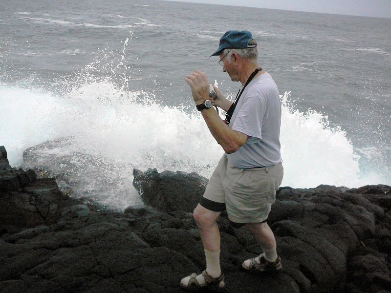 Dave would have been content to spend two weeks sitting by the shore with crashing waves.
