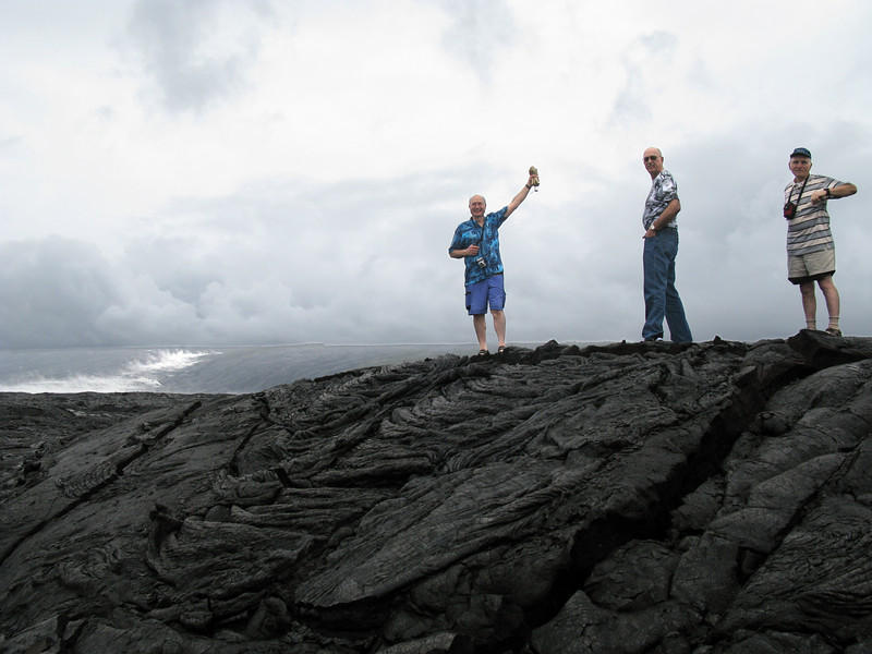 Distance is difficult to predict in this sea of lava. We hiked a mile and it seemed farther away than when we started. It turned out to be about three miles out.