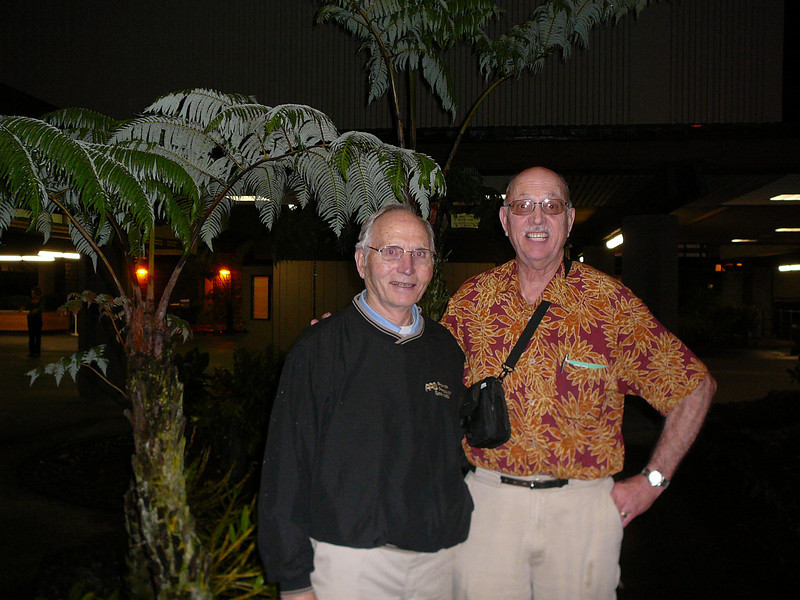 David and Oscar arrive at the Hilo airport on January 29, 2008.