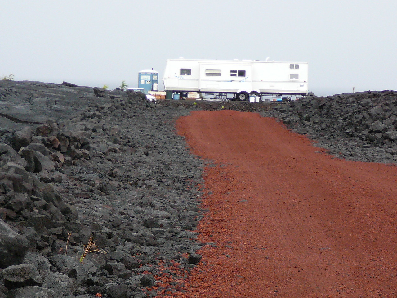 A home in the lava