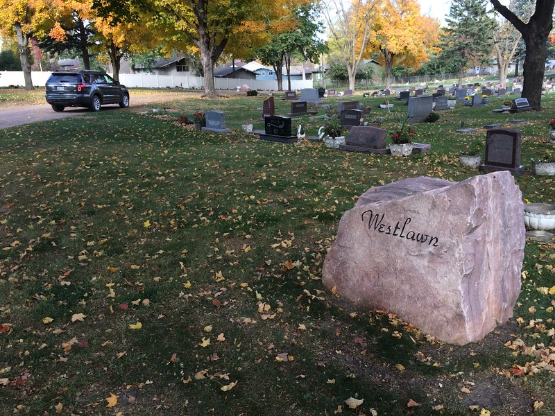 We visited mom's grave at Westlawn cemetery.