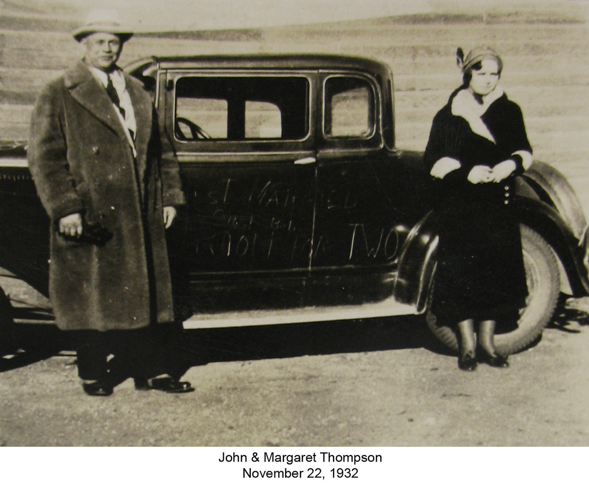 John and Margaret in North Dakota on their wedding day November 22, 1932.