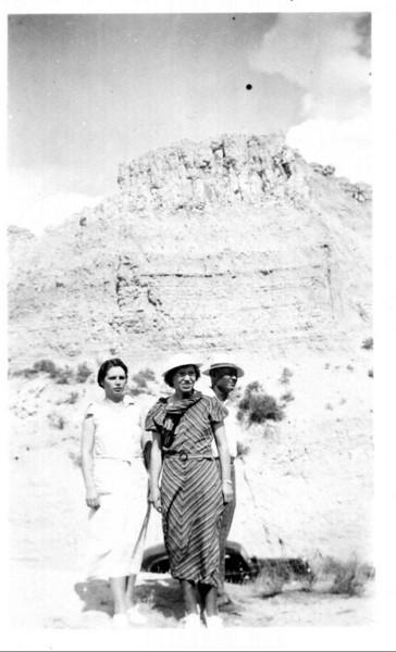 c. 1936 Margaret, Gertie, and Lewis