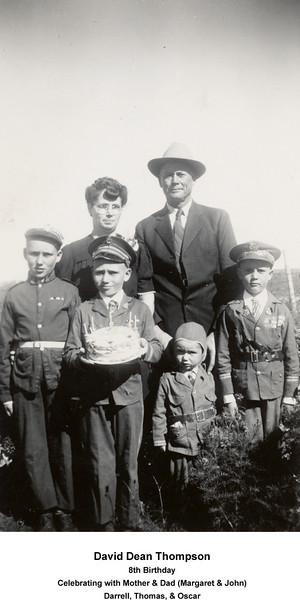 Darrel, David, Thomas, and Oscar<br /> October 9, 1943