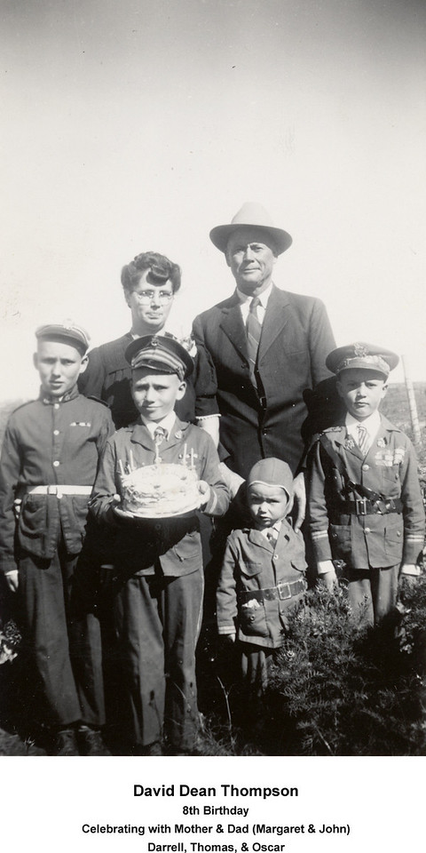 Darrel, David, Thomas, and Oscar<br /> October 9, 1943