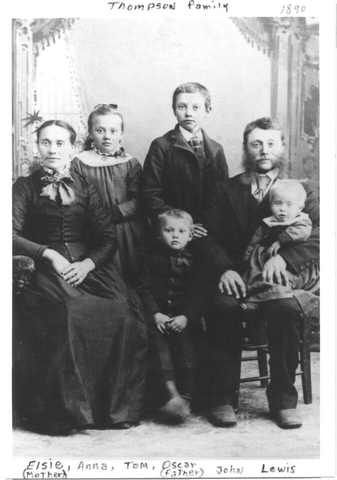 Oskar Thompson Family<br /> 1890