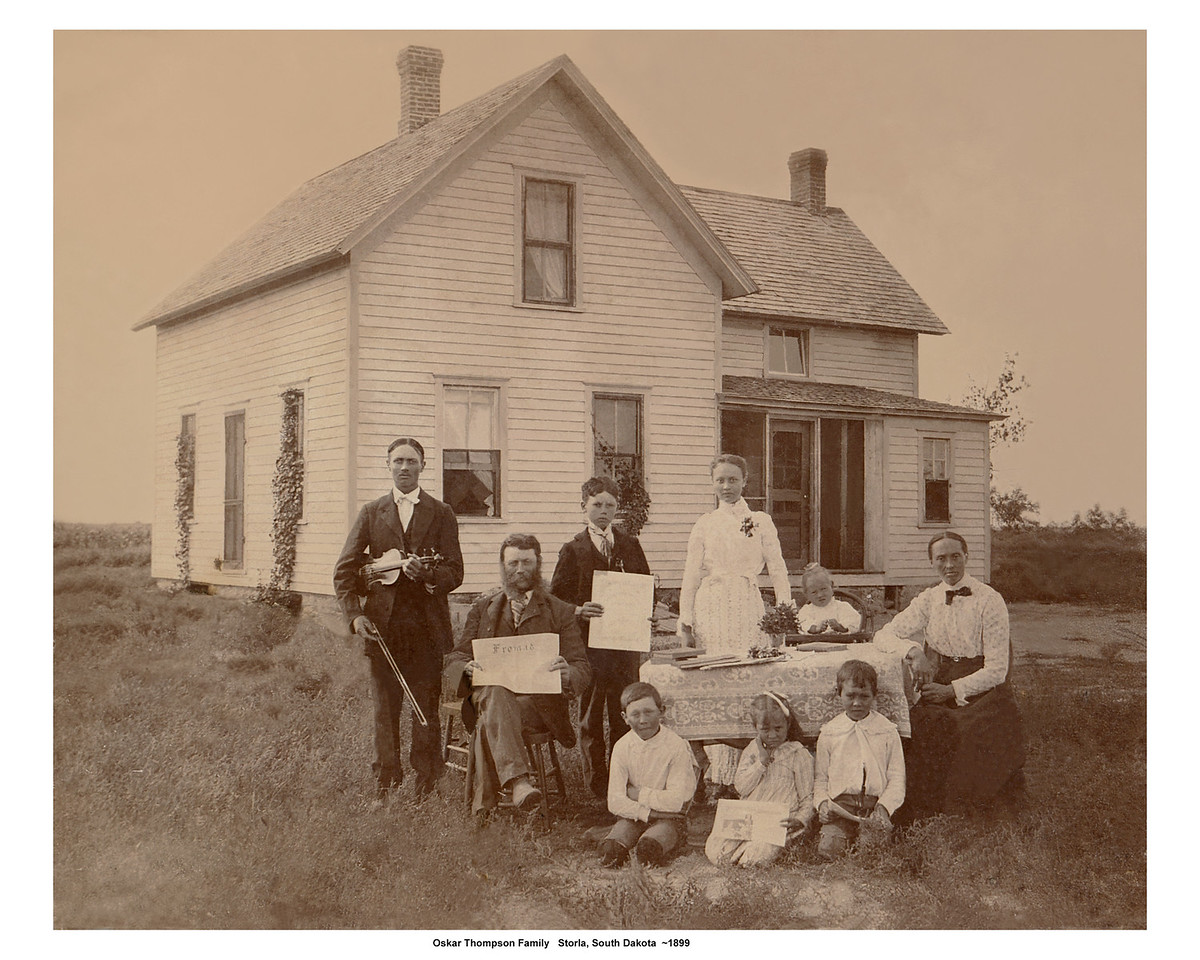 Oskar Thompson Family<br /> 1899