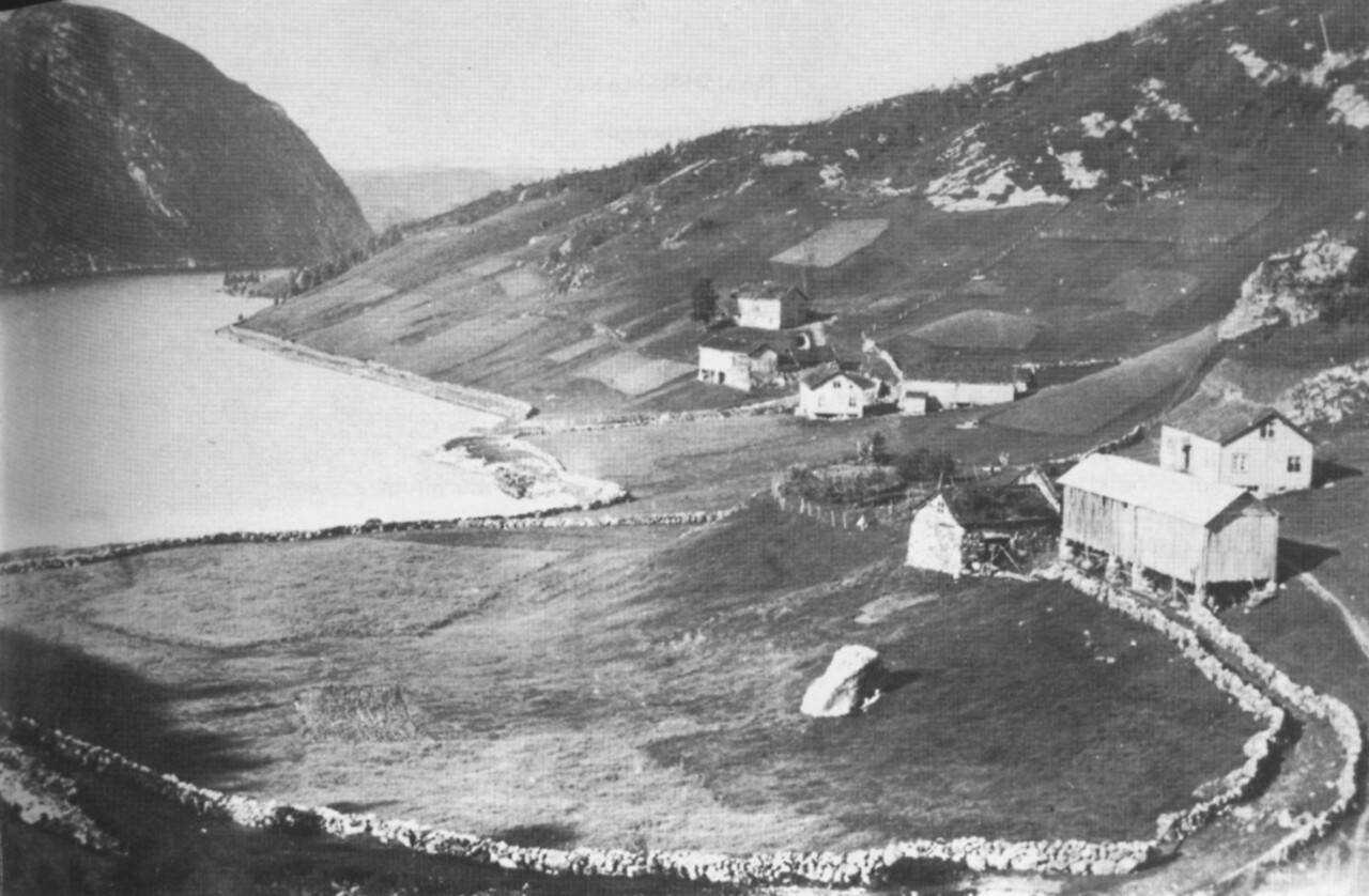 The Hammersmark farm in Sirdal, Norway. c. 1910<br /> Now in Vest-Adgner