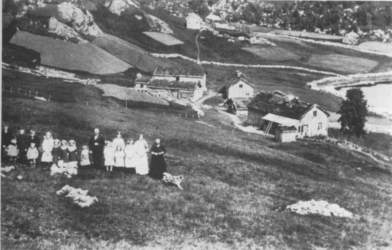 The Hammersmark farm in Sirdal, Norway. c. 1910