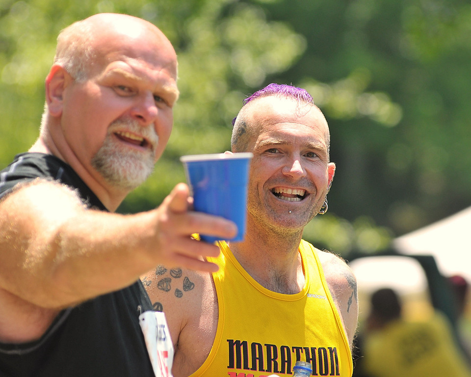 First place in the chrome dome division, and only entrant in the purple & yellow mohawk division, discuss racing strategies.