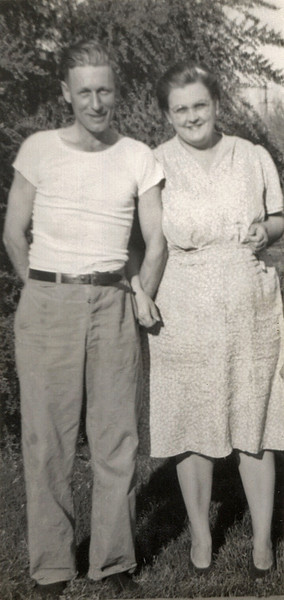 George William and Gladys Wright. Taken in California.