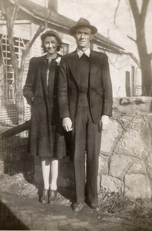 "Back of photo says: ""Hazel & Roscoe Davenport, 1943-44."