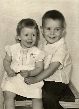 Cara and Gary Wright as small children.