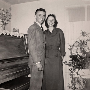 George and Norma (Davenport) Wright on their wedding day, February 14, 1951.