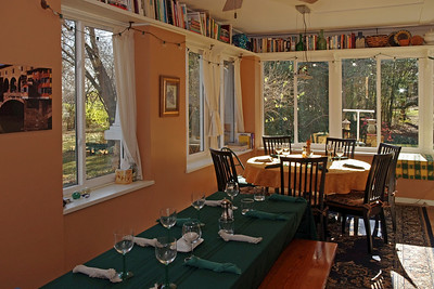 Rita's dining room is set up and ready for Thanksgiving. 2011