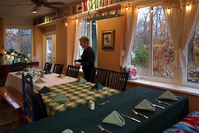 Rita's dining room; Thanksgiving, 2010.