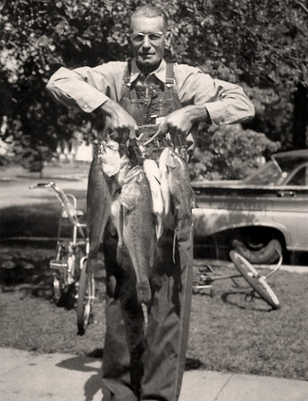 George Wright Sr with a mess of fish.